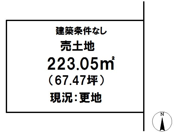 延岡市鶴ケ丘2丁目[分譲区画 4]【区画図】画像1
